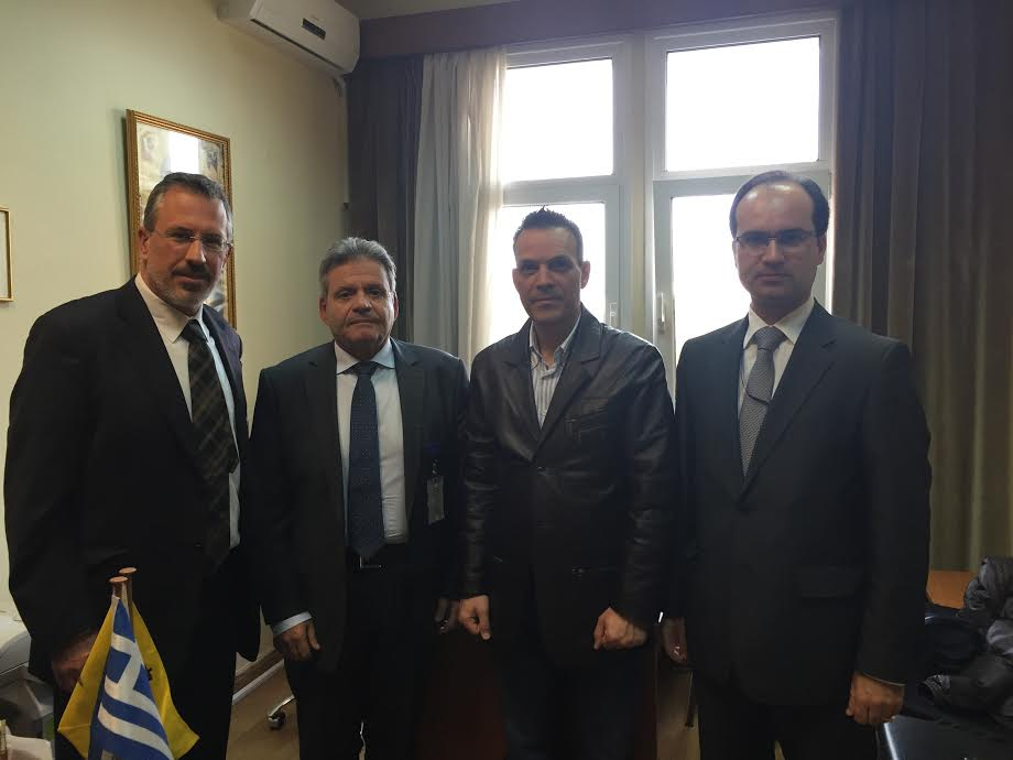 Από αριστερά Θ. Μπριάνης, Χρ.Κουτσογιαννόπουλος, Δ. Πετεινάρας, Γ. Μιχαήλ