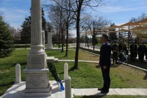 Κατάθεση στεφάνου στο Μνημείο του Εφέδρων Αξιωματικών του Αντιπεριφερειάρχη Θεσσαλίας