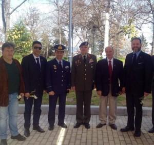 Οι Πρόεδροι των ΣΕΑΝ Ρόδου και Αχαϊας και το μέλος μας Μ.Φιλιππίδης με τον Στρατηγό της 1η Στρατιάς και τον Διοικητή της 110 ΠΜ